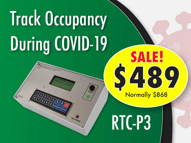 RTC-P3 people counter for occupancy tracking during COVID-19